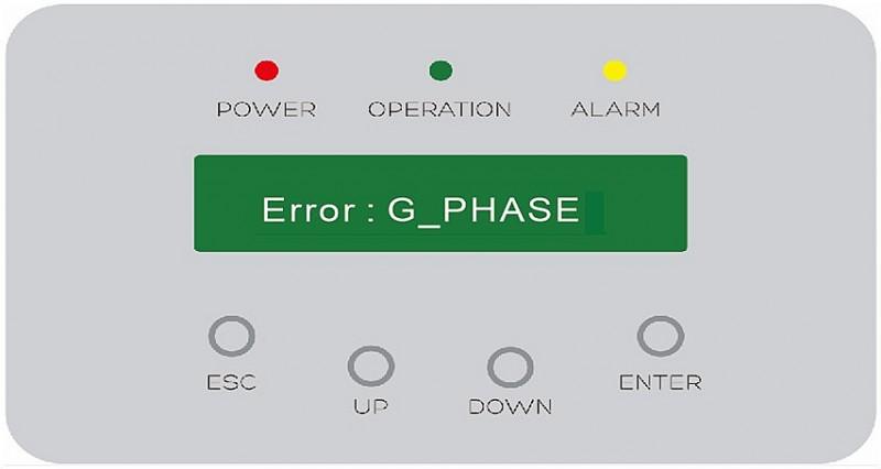 "Solution to Inverter ""G-PHASE"" Alarm"