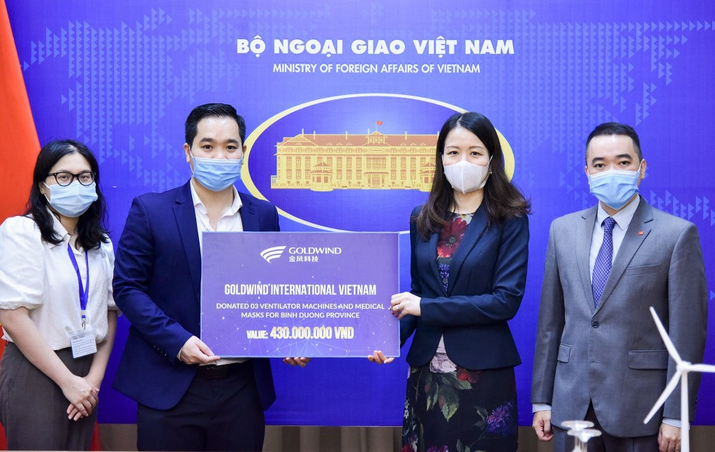 Goldwind supports medical supplies for Vietnam to fight Covid-19