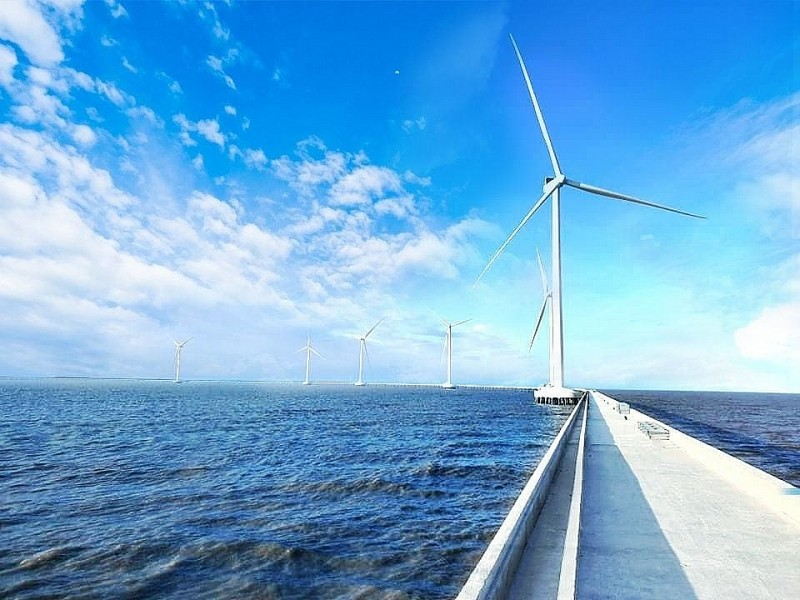 The first wind power projects in Soc Trang province have started the power generation