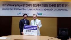 chung ang university hospital donates medical equipment to quang ngai