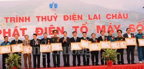 First Lai Chau hydropower turbine's operation celebrated