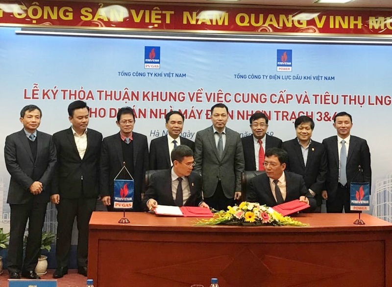 Agreement on supplying and consuming LNG for Nhon Trach 3 and 4 power plants