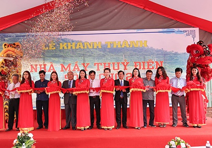 Inaugurating the Song Cho 2  Hydropower Plant