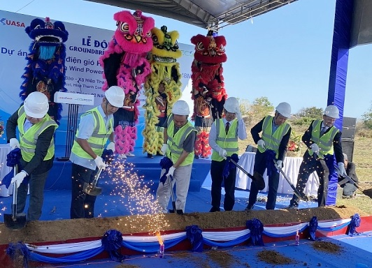 Ground breaking of Hiep Thanh Wind Power Project