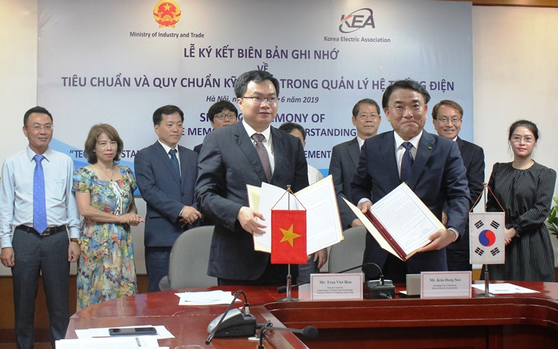 Vietnam and Korea signed a MOU on the technical standards in the power system management