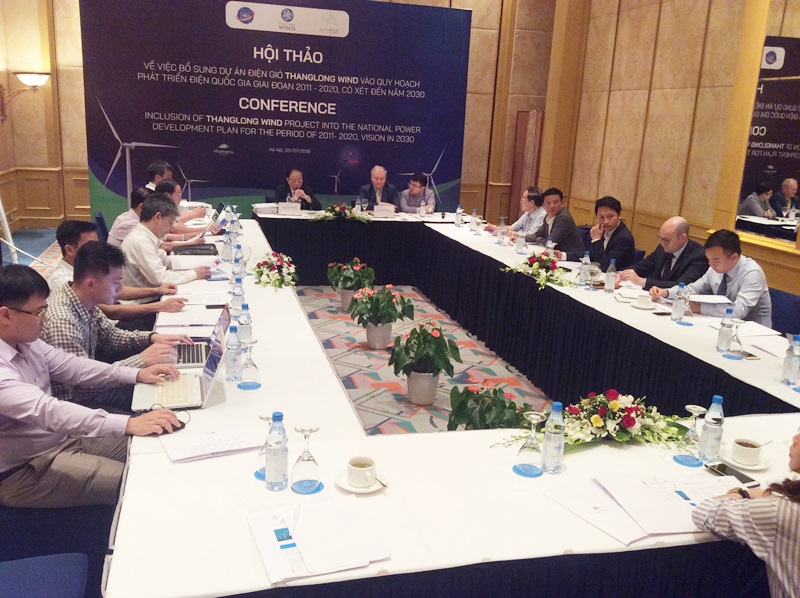The workshop on supplementing Thang Long wind power project to the PDP