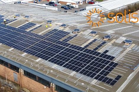 Solis cung cấp hệ thống PV mái nhà quy mô lớn cho doanh nghiệp Anh