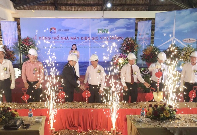 Starting construction of V1-2 wind power project  in Tra Vinh
