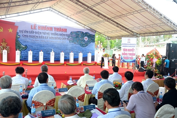 Ly Son island district officially has the national power grid