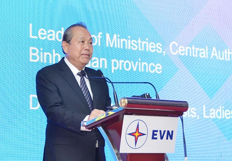Inaugurating Vinh Tan 4 Thermal power plant