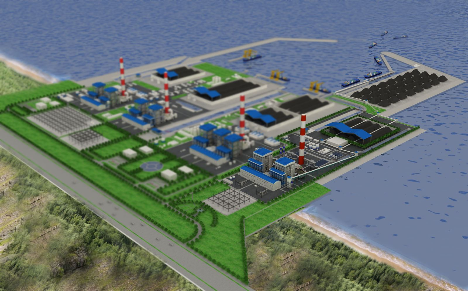 EVN-SEC committed to speed up the progress of Thermal Electricity Power Plans Quang Ninh and Vinh Tan 2