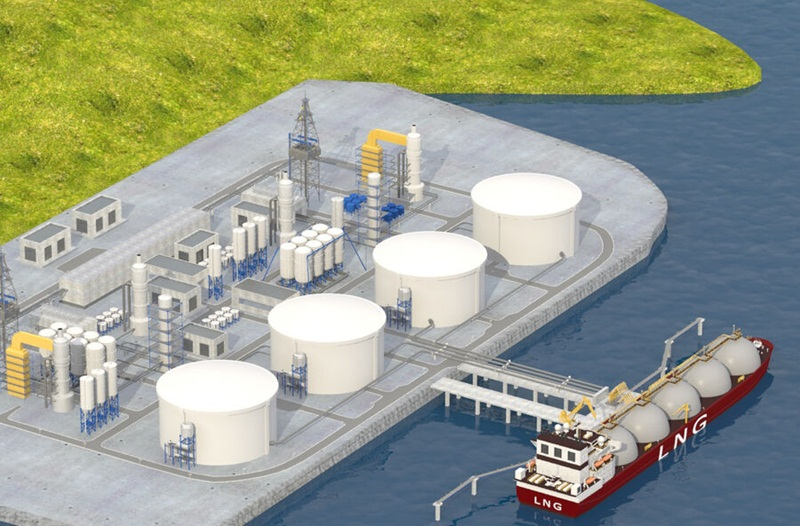 Supplementing a wharf to receive LNG for the first stage of the Ca Na power center, Ninh Thuan Province