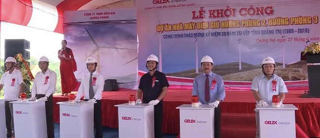 Starting construction of Huong Phung 2 and 3 WPPs in Quang Tri