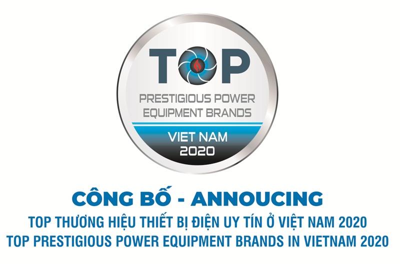 "The results of voting ""TOP prestigious power equipment brands in Vietnam  2020"""