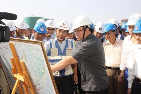 Giao ban công trường Trung tâm Điện lực Duyên Hải